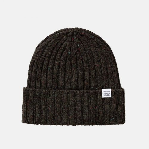 Mens Norse Projects Neps Beanie Hat in Beech Green