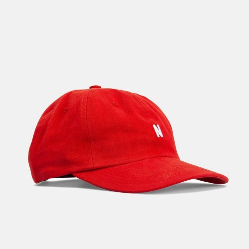 Mens Norse Projects Twill Sports Cap in Askja Red