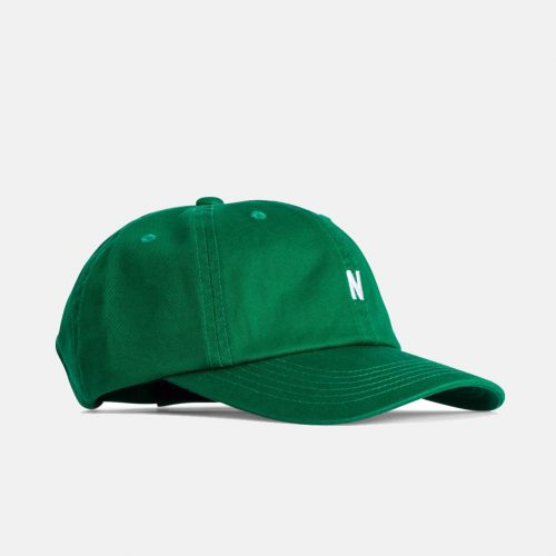Mens Norse Projects Twill Sports Cap in Sporting Green