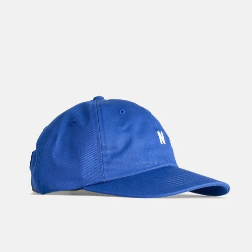 Mens Norse Projects Twill Sports Cap in Twilight Blue