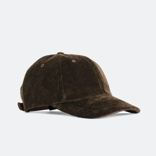 Mens Norse Projects Wide Wale Cord Sports Cap in Beech Green