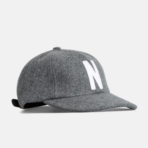 Mens Norse Projects Wool Sports Cap in Light Grey Melange