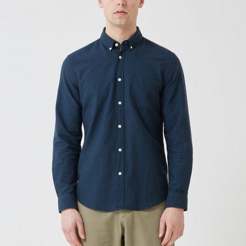 MensPortuguese Flannel Belavista Shirt in Navy Blue