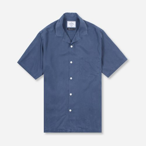 MensPortuguese Flannel Dogtown Short Sleeve Shirt in Blue