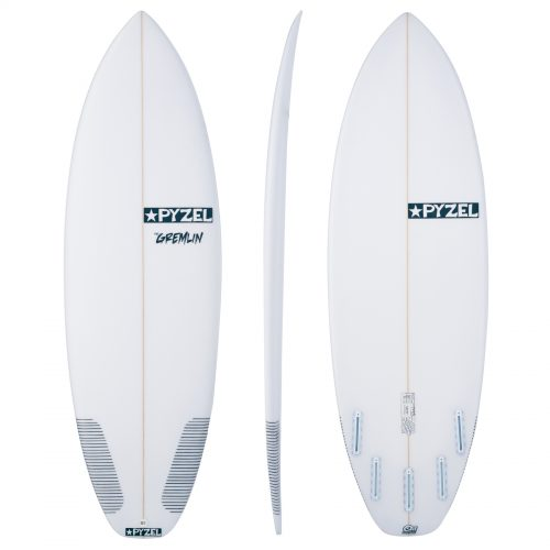 Mens Pyzel Gremlin Futures 5 Fin Surfboard in White