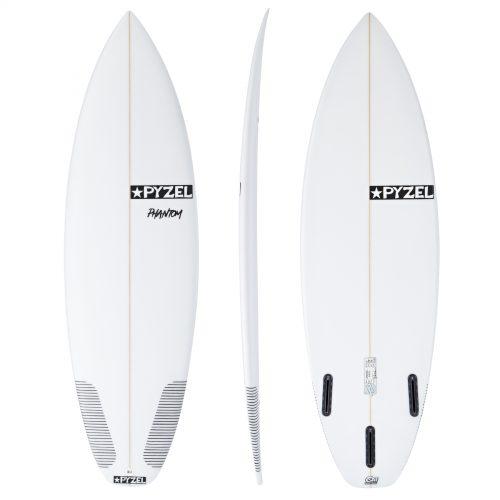 MensPyzel Phantom Futures Tri-Fin Surfboard in White