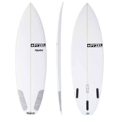 Mens Pyzel Phantom Futures Tri-Fin Surfboard in White