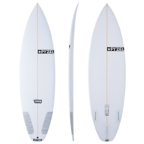 MensPyzel Shadow Futures Thruster Surfboard in White