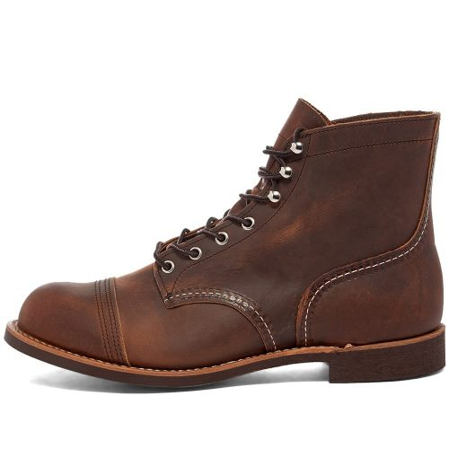 MensRed Wing 8138 Heritage Work 6″ Iron Ranger Boots in Brown Leather