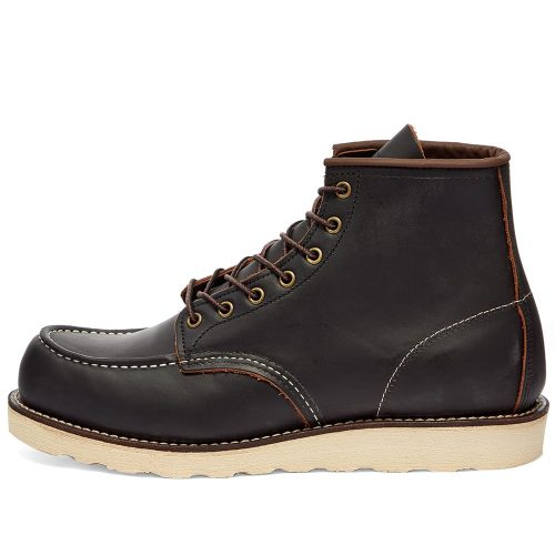 Mens Red Wing Classic 6″ Moc Toe Boots in Black
