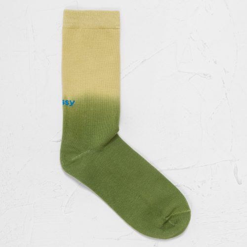 Mens Stussy Dip Dye Everyday Socks in Green