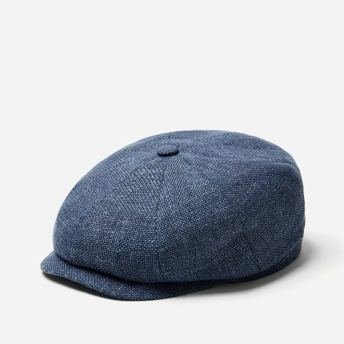 Mens Stetson Hatteras Ellington Newsboy Cap in Blue Wool