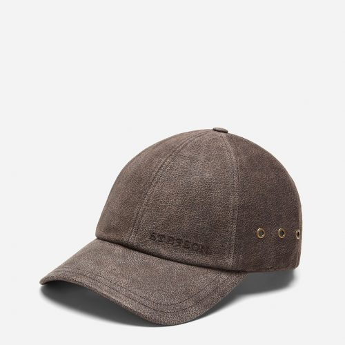 Mens Stetson Hats Pigskin Baseball Cap in Brown