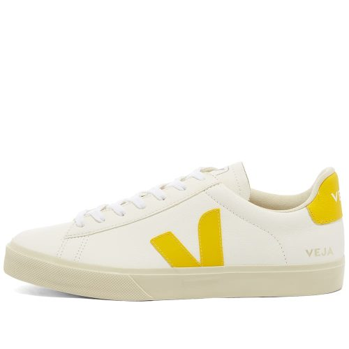 Mens Veja Campo Sneakers in White & Yellow
