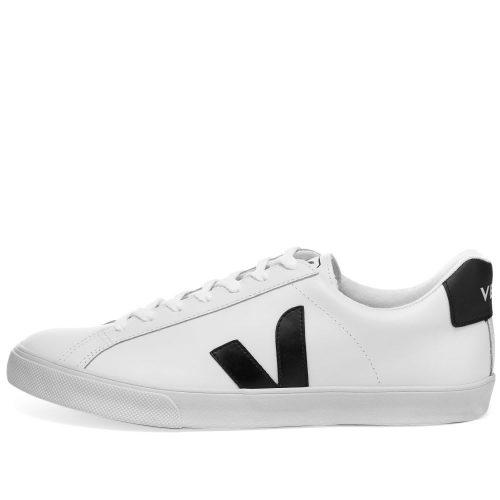MensVejaEsplar CleanLeather Sneakers in White & Black