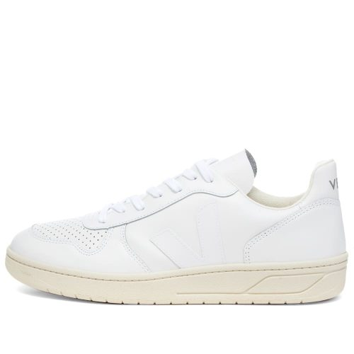 Mens Veja V-10 Leather Basketball Sneakers in White