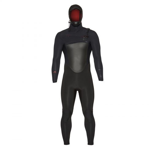 Mens Xcel Drylock Hooded 4/3mm Wetsuit in Black