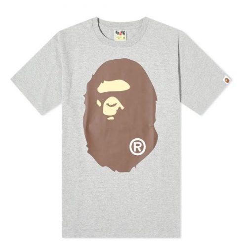MensA Bathing Ape Big Ape Head T-Shirt in Grey