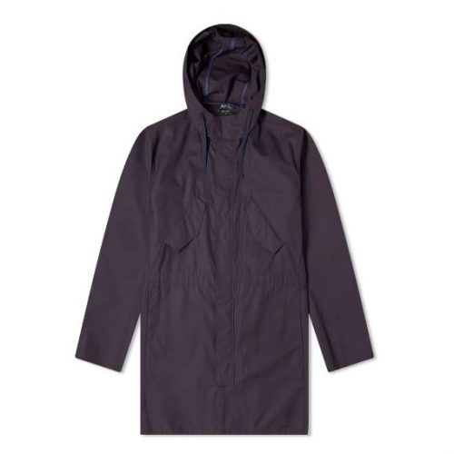 Mens A.P.C. Benett Parka Jacket in Dark Navy