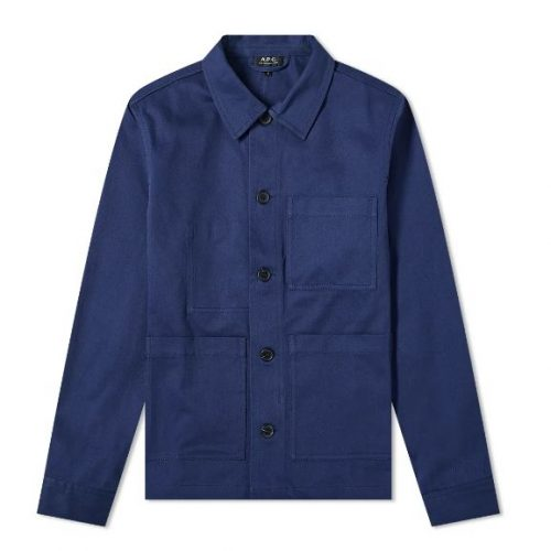 Mens A.P.C. Nathanael Jacket in Indigo Blue