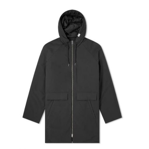 Mens A.P.C. Wind Parka Jacket in Black
