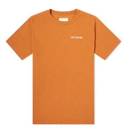 MensAime Leon DoreJersey Logo T-Shirt in Almond Brown