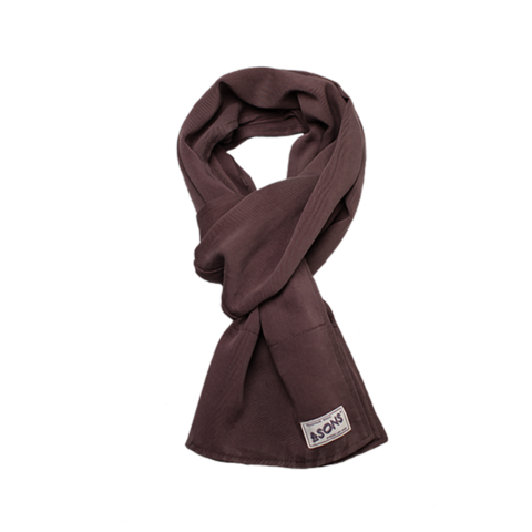 Mens &SONS Hemingway Scarf in Mulberry Dust