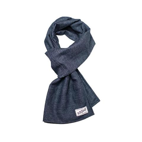 Mens &SONS Hemingway Scarf in Denim Blue