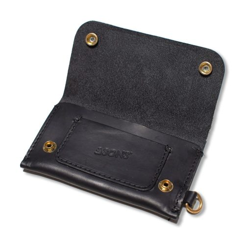 Mens &SONS Leather Wallet in Black