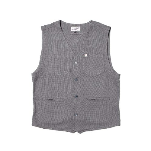 Mens &SONS Trading Co Lincoln Waistcoat Vest in Grey