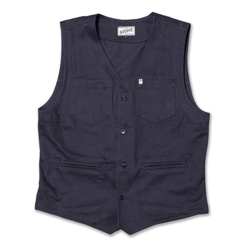 Mens &SONS Trading Co Lincoln Waistcoat Vest in Navy