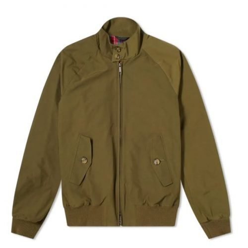 MensBaracuta G9 Original Harrington Jacket in Beech Green