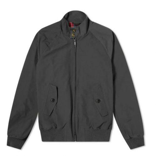 MensBaracuta G9 Original Harrington Jacket in Faded Black
