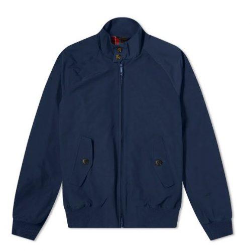 MensBaracuta G9 Original Harrington Jacket in Navy Blue