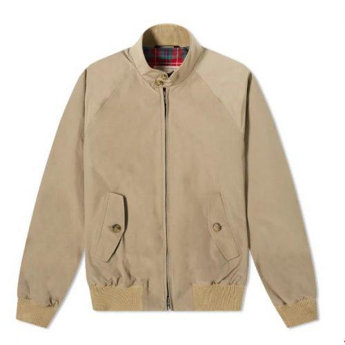 MensBaracuta G9 Original Harrington Jacket in Tan