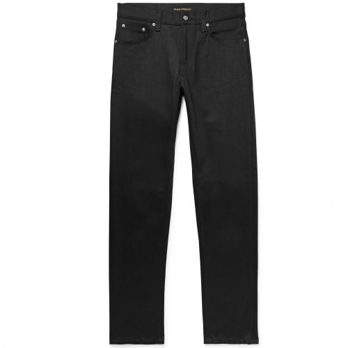 Mens Nudie Jeans Steady Eddie Ii Slim-fit Tapered Organic Stretch-denim Jeans in Black