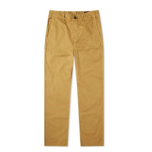 Mens orSlow Work Pant Trousers in Khaki
