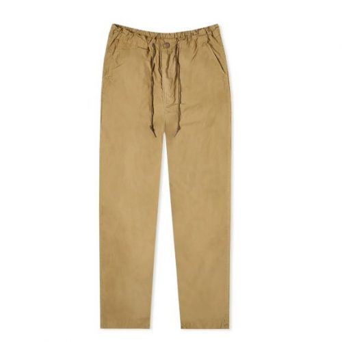 Mens orSlow New Yorker Pant Trousers in Gold Brown
