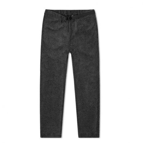 Mens orSlow New Yorker Fleece Pant Trousers in Charcoal Grey