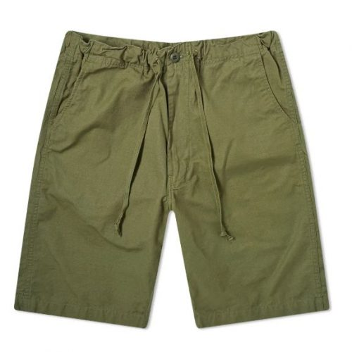 Mens orSlow New Yorker Shorts in Army Green