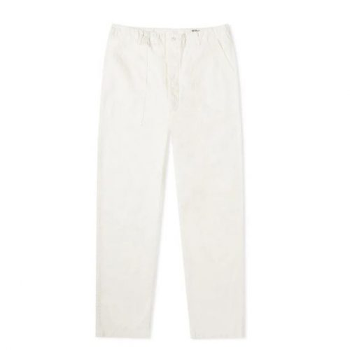 Mens orSlow Summer Wide Fatigue Pant Trousers in White