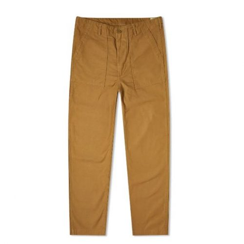 Mens orSlow US Army Fatigue Pant Trousers in Khaki