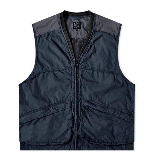 MensorSlow Utility Vest Jacket in Navy Blue