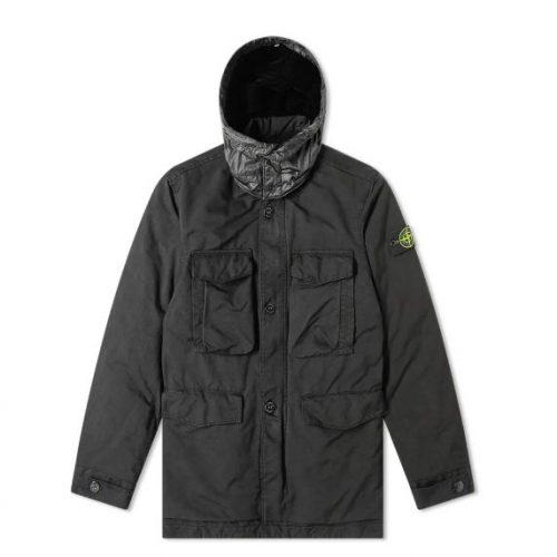 MensStone Island David TC Parka Jacket in Black