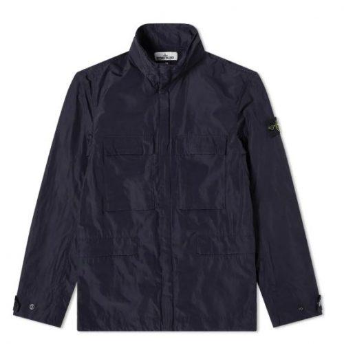 MensStone Island Micro Reps 4 Pocket Jacket in Navy