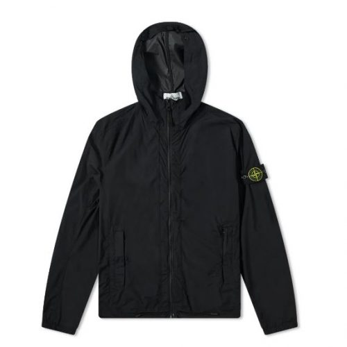 MensStone Island Skin Touch Hooded Jacket Jacket in Black