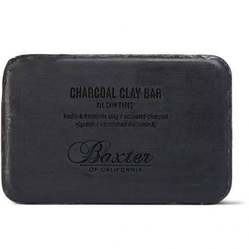Mens Baxter of California Detoxifying Charcoal Clay Soap Bar 198g