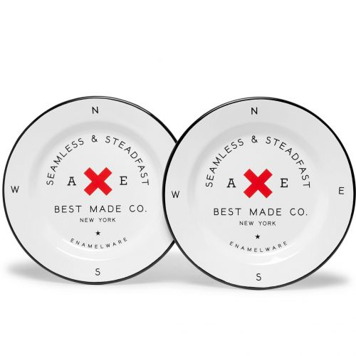 MensBest Made Company Enamel Plate Set in White