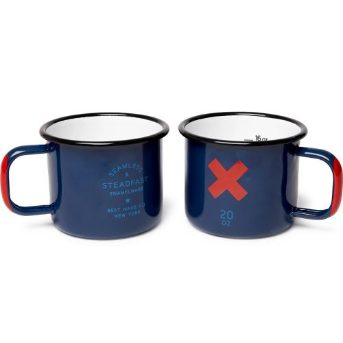 Mens Best Made Company Set of Two Enamelled Cups in Blue
