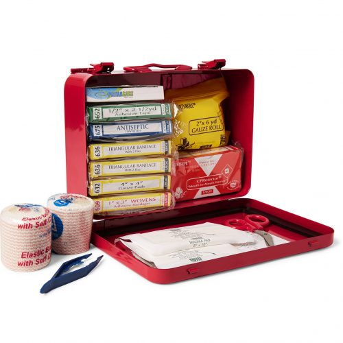 MensBest Made Company Steel First Aid Kit in Red